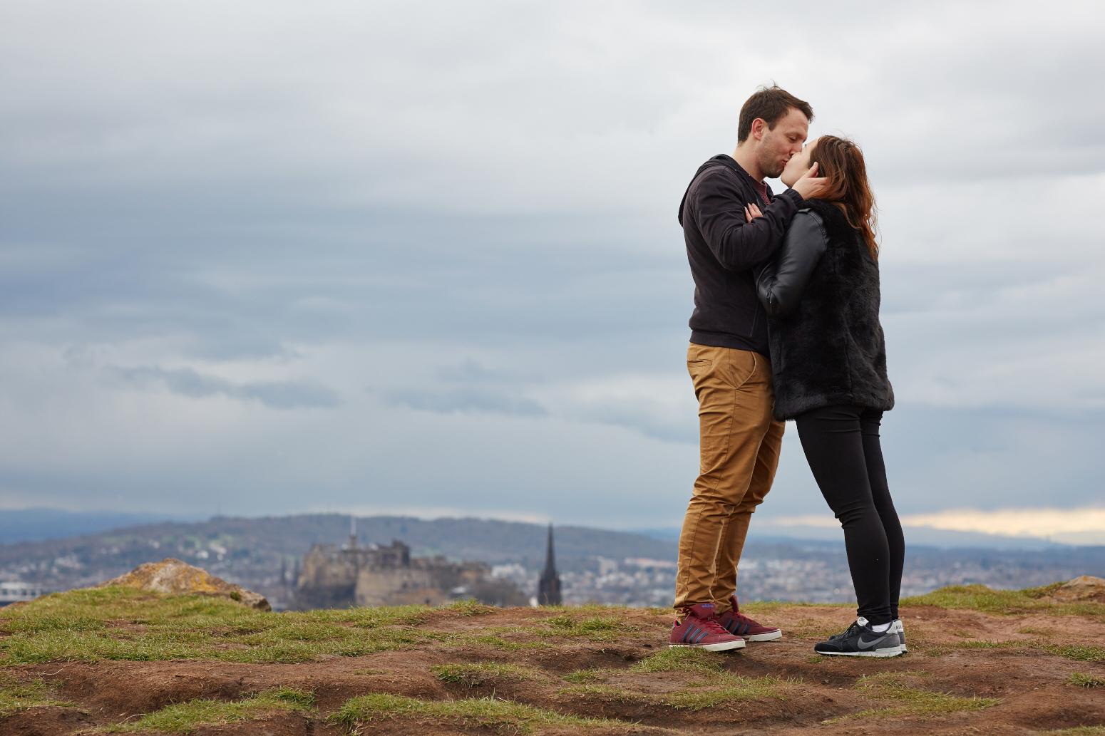 Romantic engagement photos Edinburgh