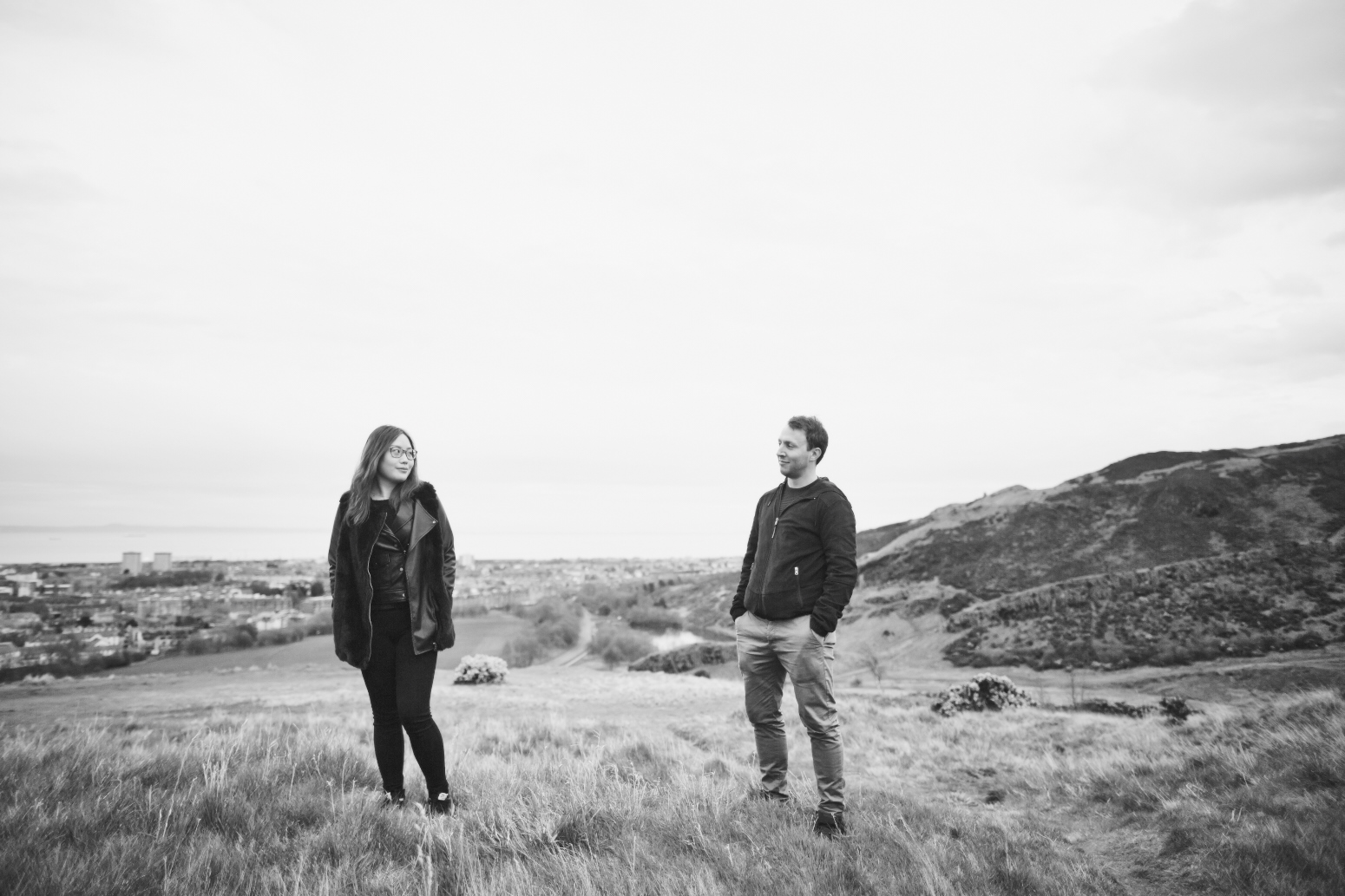 Creative couple portraits Edinburgh