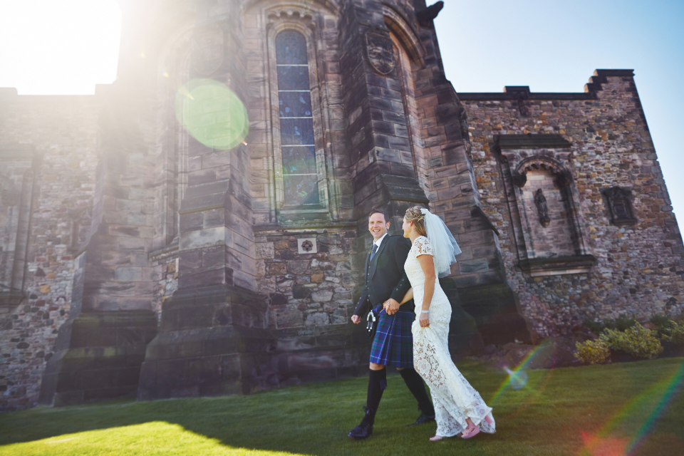 Wedding photography at Edinburgh Castle