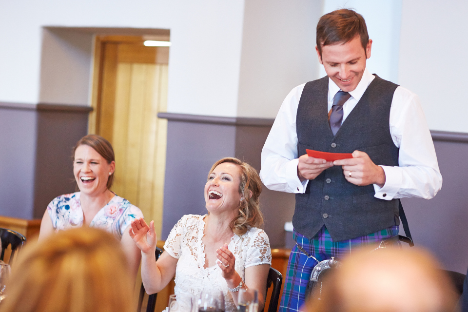Edinburgh castle wedding speeches