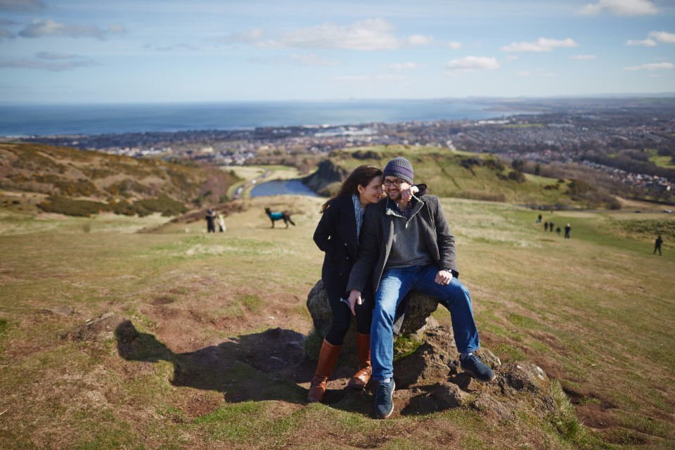 Engagement photos Edinburgh
