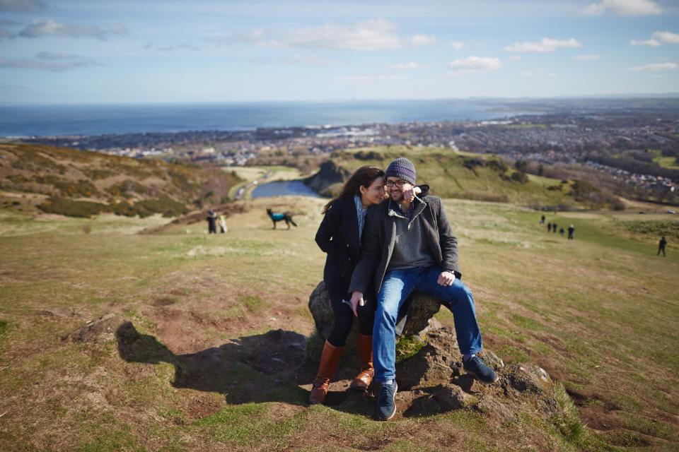 Engagement photos Edinburgh