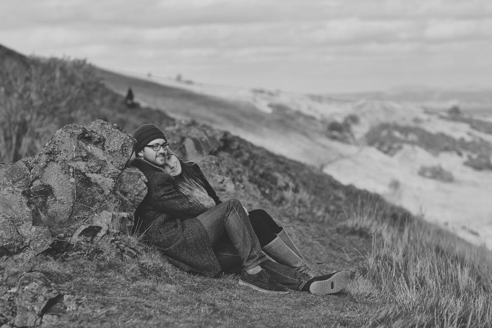 Romantic, artistic couple photo session Edinburgh