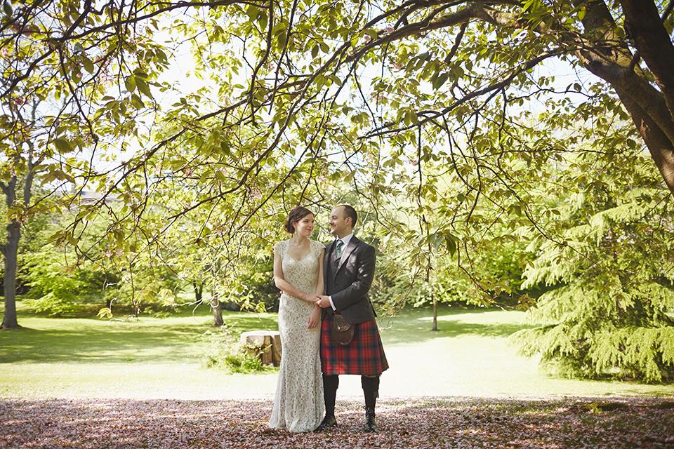 Queen Street Gardens wedding photography