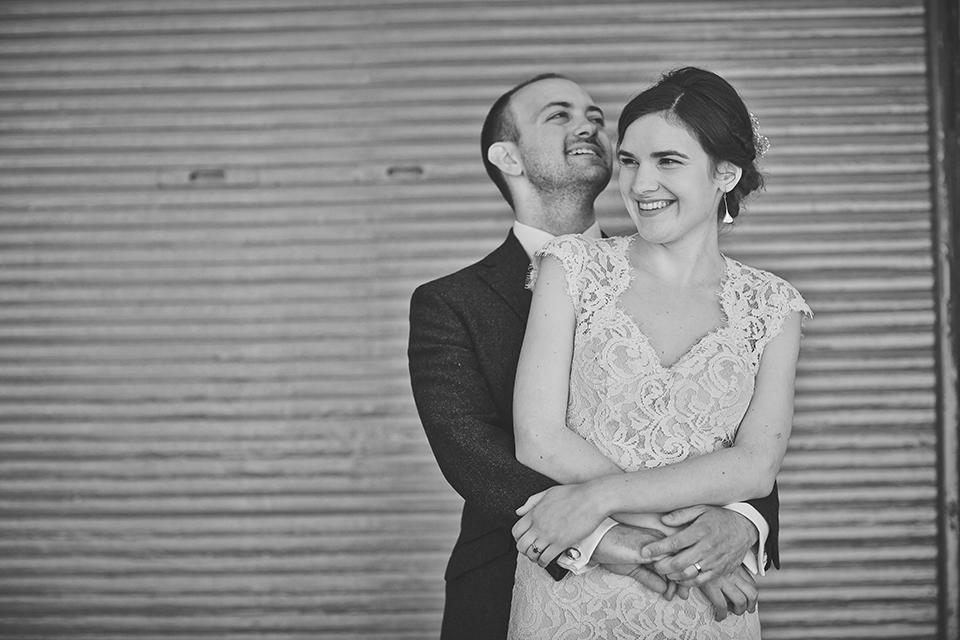 Happy wedding couple in Edinburgh