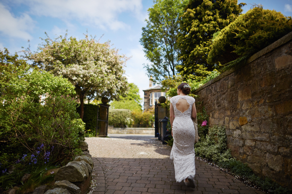 Relaxed bridal portrait in Edinburgh
