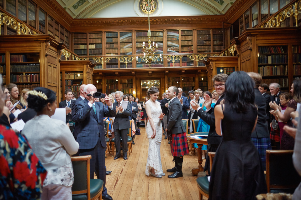 Royal College of Physicians Edinburgh wedding photography
