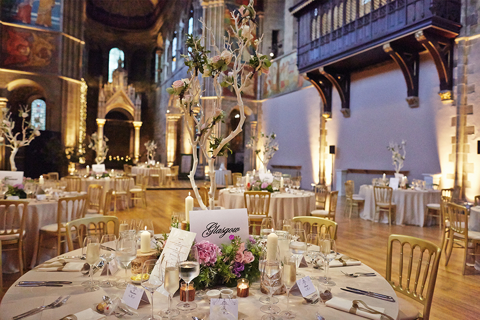 Mansfield Traquair wedding decorations