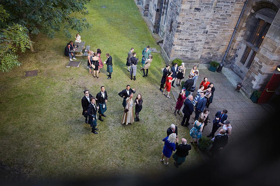 Wedding reception at Mansfield Traquair Edinburgh