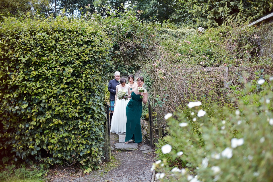 Traquair House gardens ceremony
