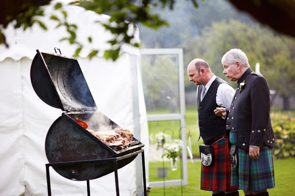 Traquair House outdoor wedding