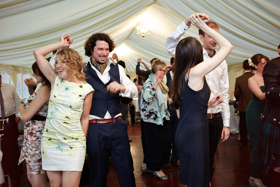 Traquair House wedding dancing