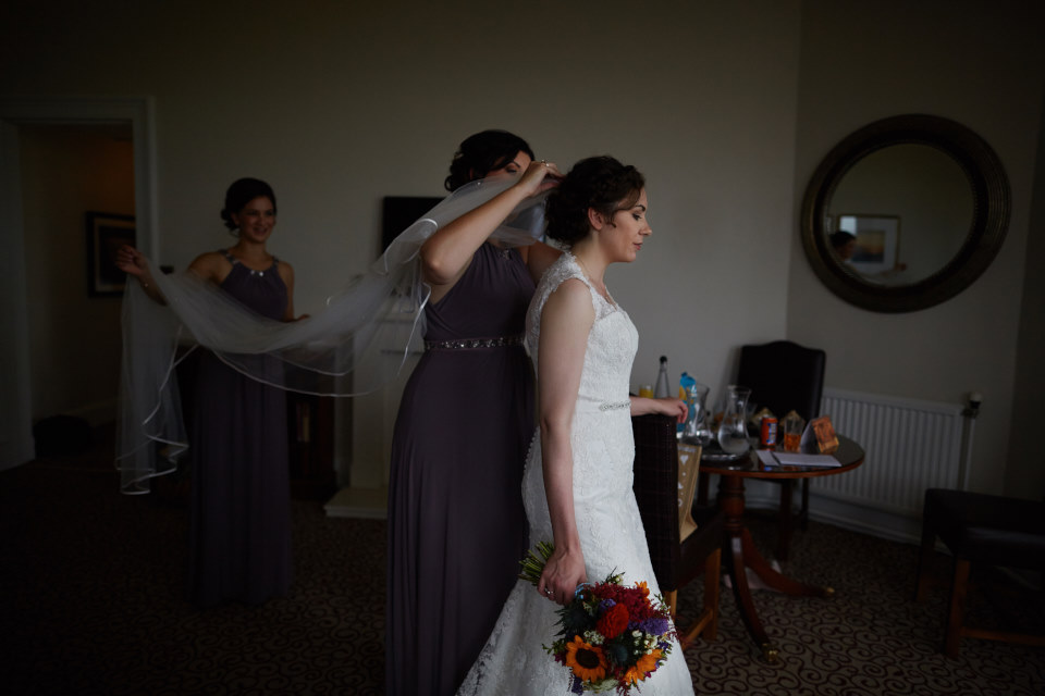 Edinburgh reportage wedding photographer
