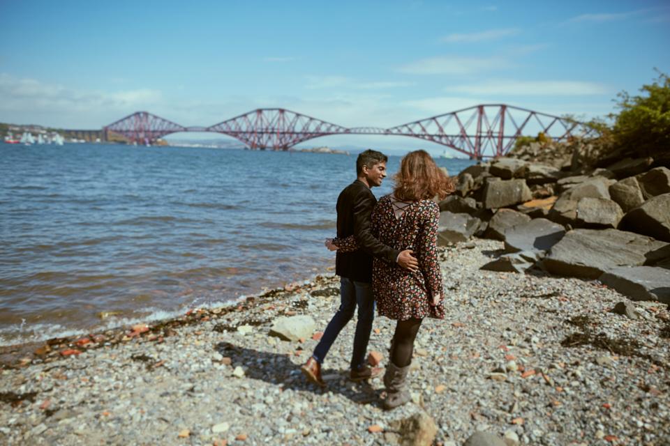 Scotland creative couple photo session