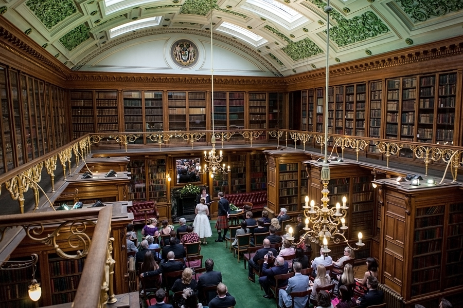 Wedding ceremony at Royal College of Physicians of Edinburgh