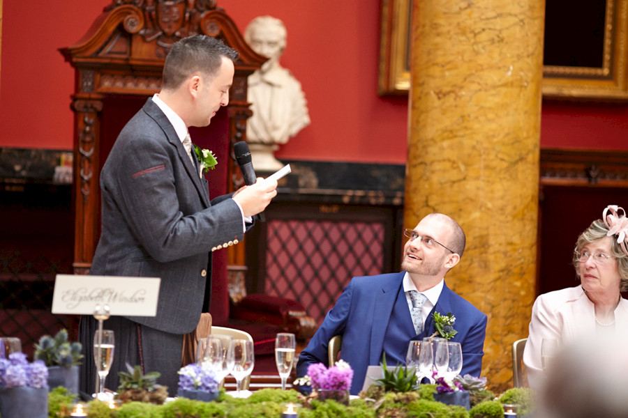 Gay wedding at Royal College of Physicians in Edinburgh