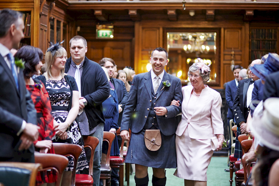Civil partnership ceremony at Royal College of Physicians in Edinburgh