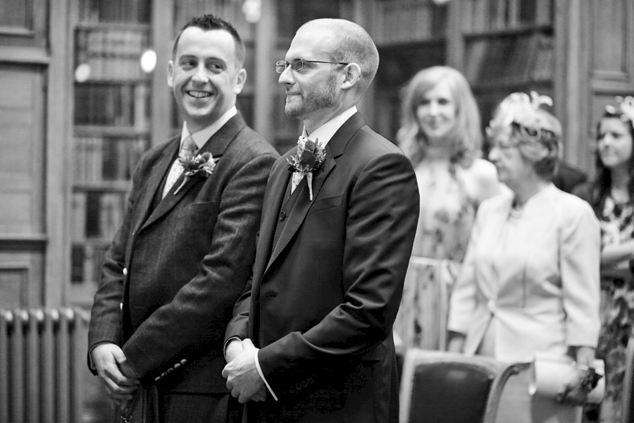 Civil partnership ceremony photos at Royal College of Physicians in Edinburgh