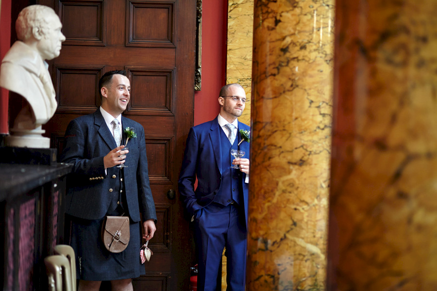Happy couple at Royal College of Physicians in Edinburgh
