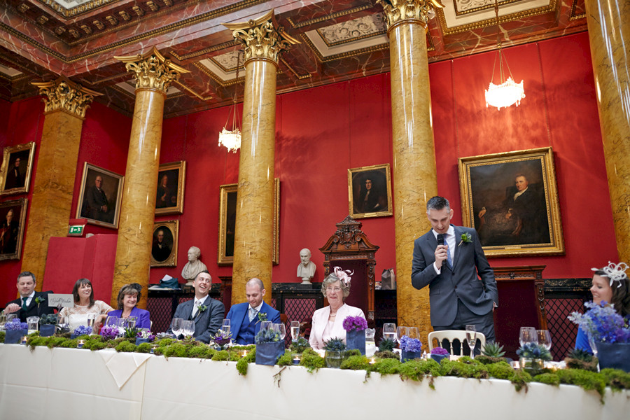 Best man speech at Royal College of Physicians in Edinburgh