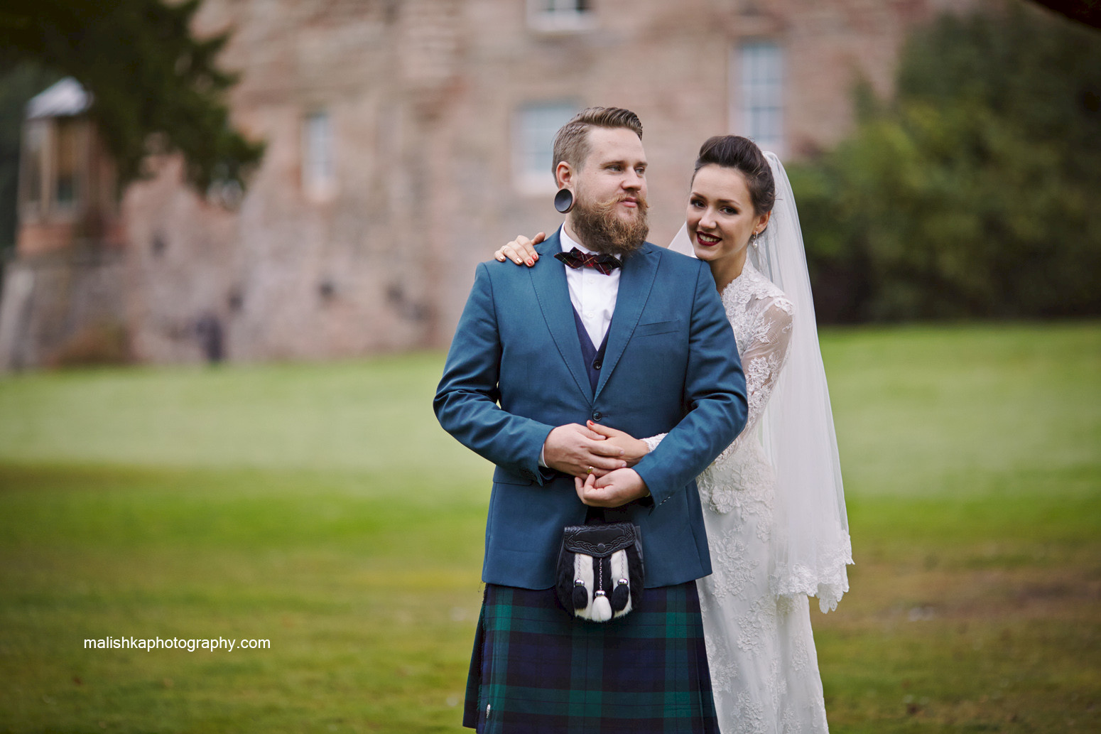 Dalhousie Castle wedding photos