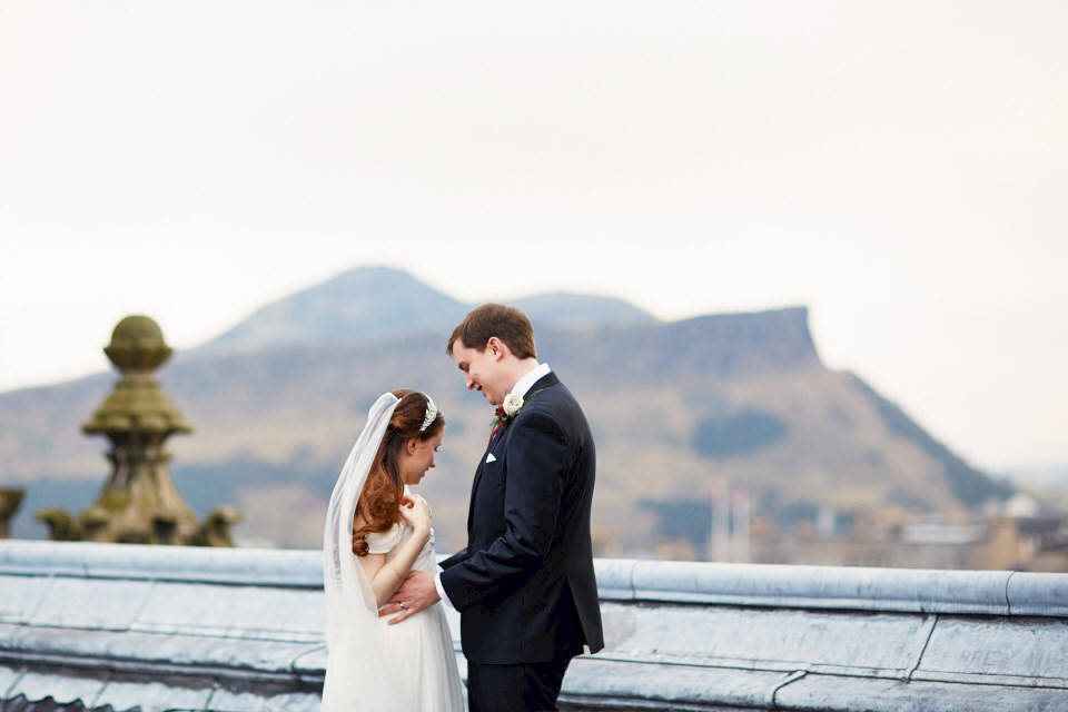 beautiful Edinburgh wedding photography