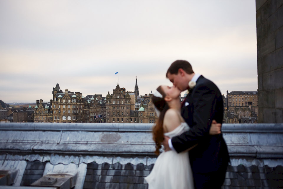 creative Edinburgh wedding photography