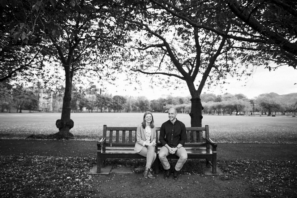 Black and white photography session Edinburgh