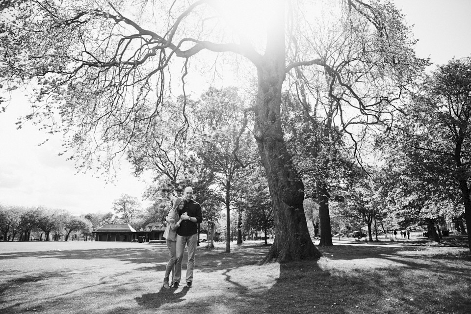 Amazing trees for the couple shoot in Edinburgh
