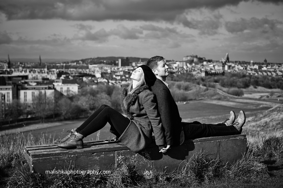 Fantastic couple photo session in Edinburgh
