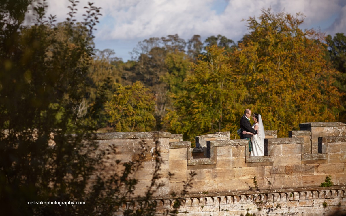 Oxenfoord Castle wedding photography