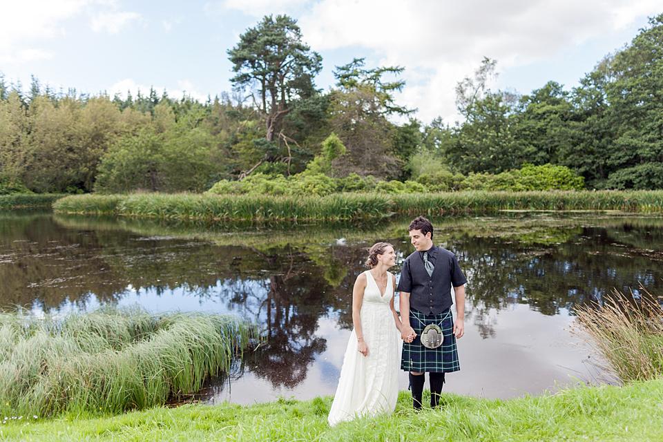 Outdoor Scottish barn wedding