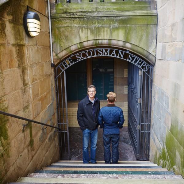 Couple photo session in the Edinburgh city centre