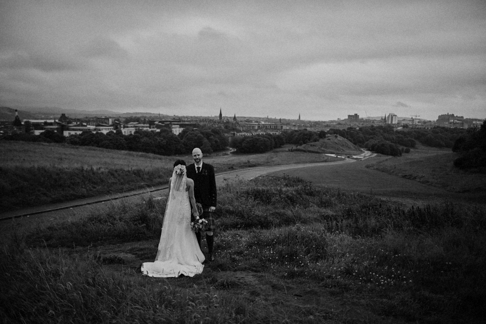 Fantastic wedding photography at Arthur's Seat, Edinburgh
