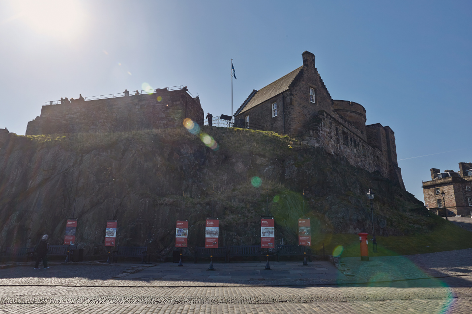 Sun over Edinburgh Castle