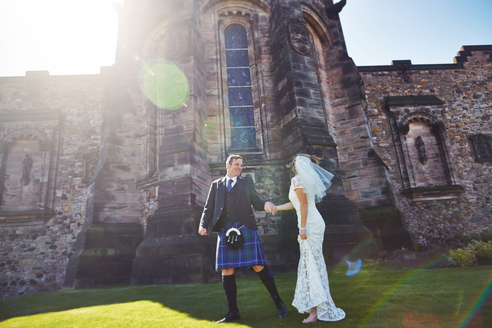 Edinburgh Castle wedding photos