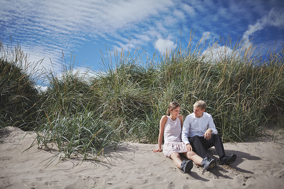 Wedding photography at the Scottish beach