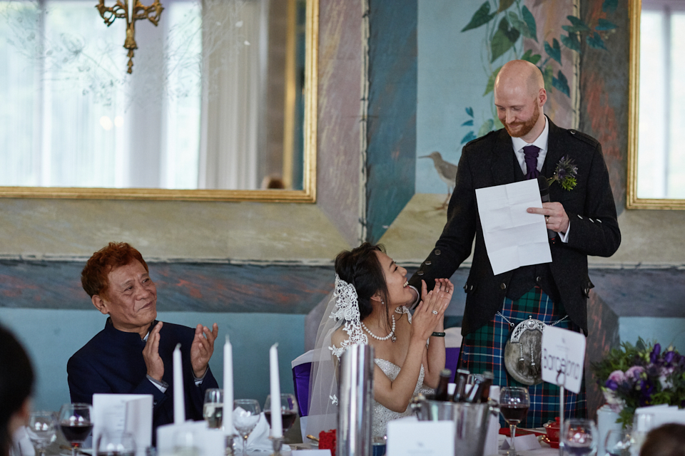 Groom speeches at the Caledonian